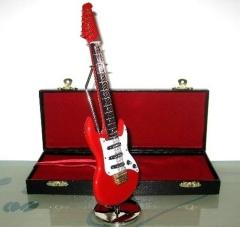 Minni Musikinstrument E-Gitarre Deko Modell rot