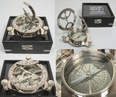 Nautic Peil - Compass sundial brass West London