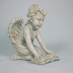 Engelfigur Grabengel Engel Engelchen mit Buch Deko Figur