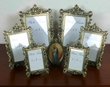 Photo Frame Gallery 7 x Picture Frame frame metal ornate Baroque Antique Gold