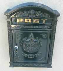 Briefkasten Antik Postkasten Aluminiumguss Wandbriefkasten Mailbox