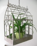 Hanging basket plants cage Metal Home Antique style pendants Shabby Look Blumenhaus