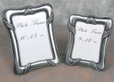 Picture Frames Set of 2 photo frames Metal photo frames Silver Gallery