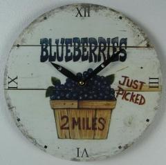 Uhr Wanduhr Holz Küchen - Uhr Früchte Blaubeere Vintage - Stil