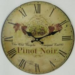 Uhr Metall Wanduhr Wein Küchenuhr mit Schriftzug